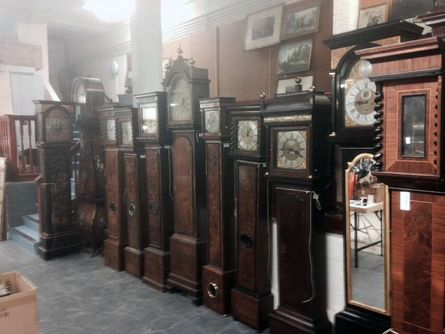 long case clocks at auction