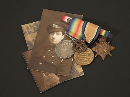 old photographs and medals